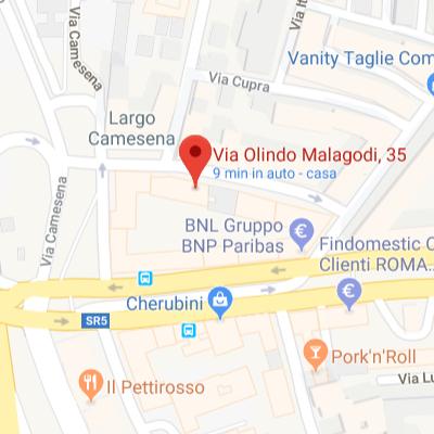 Roma  Zona Tiburtina.  Via Olindo Malagodi 35